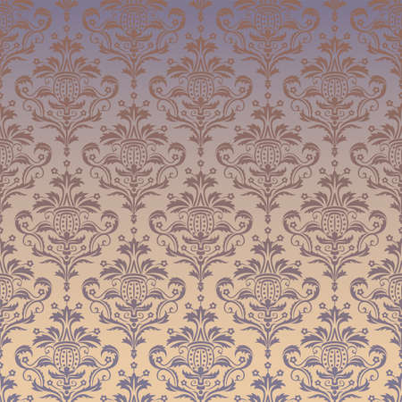 stately: Luxury seamless golden floral wallpaper