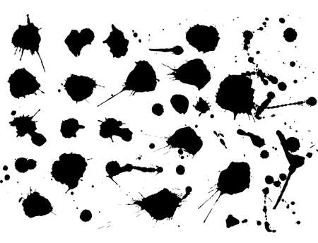 Ink blots, vector