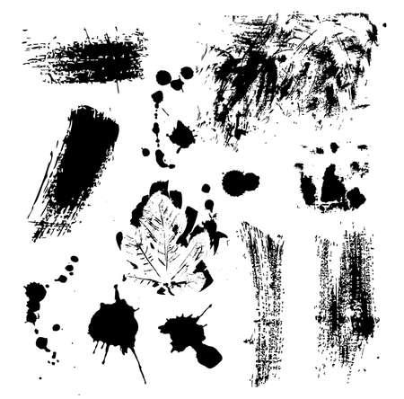 mud splatter: Abstract grunge design elements