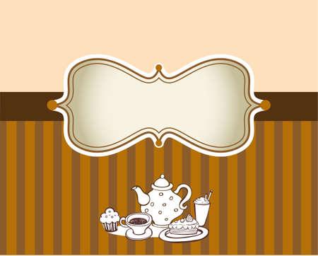 cofe: Ornate menu cover