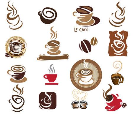 latte art: Coffee and Tea design elements.