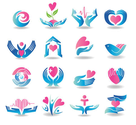 Health care design elements Illustration