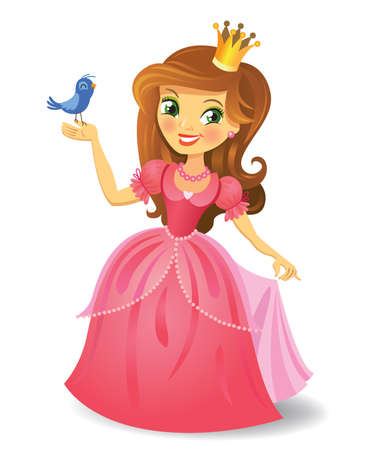 princesa: Hermosa princesa Vectores