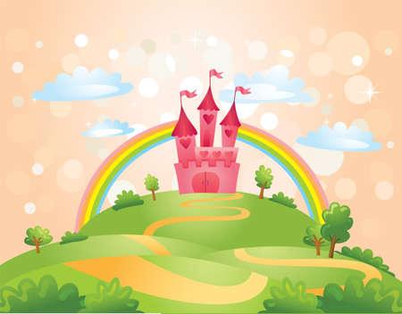 castillos: Cuento de hadas del castillo.