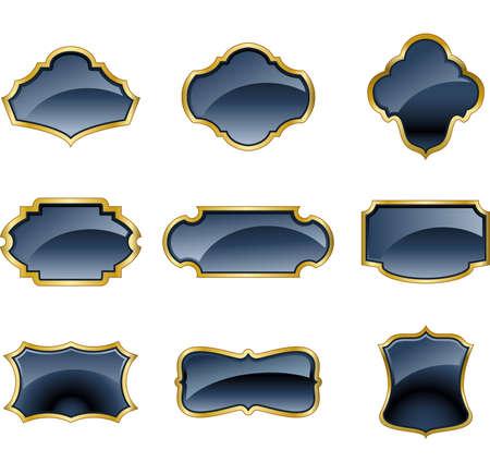 nobel: Set of glass labels
