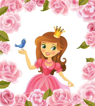 little princess: Illustration of beautiful princess Illustration