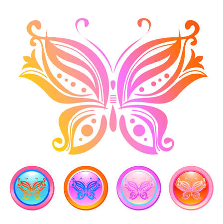 Vector design of butterfly Vector