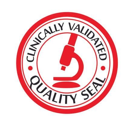 clinically: Clinicamente sigillo di qualit� convalidata Vettoriali