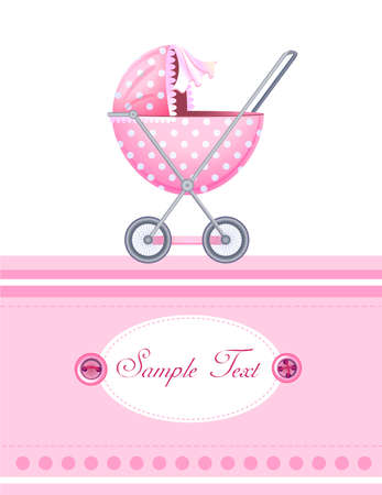 baby stroller: Baby arrival card