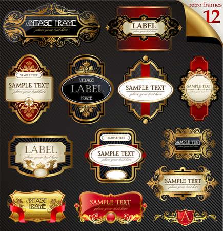 Vintage Etiketten set  Standard-Bild - 36833108