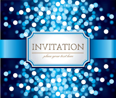 blue backgrounds: Template frame design for Invitation