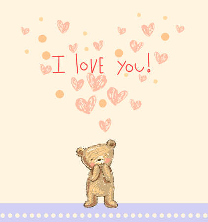 cute bear: I love you