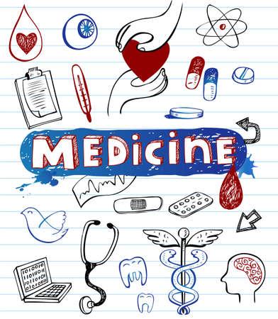 Doodle hospital icons