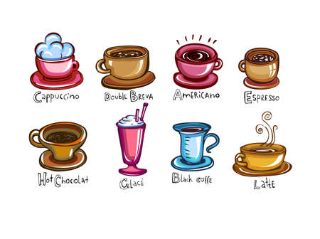macchiato: Types of coffee
