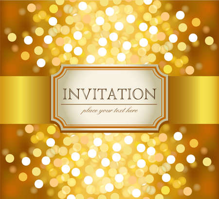 gold frames: Golden invitation