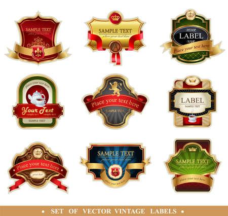 Marcos de vectores ornamentales y etiquetas