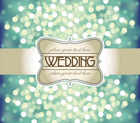 silver ribbon: Wedding invitation