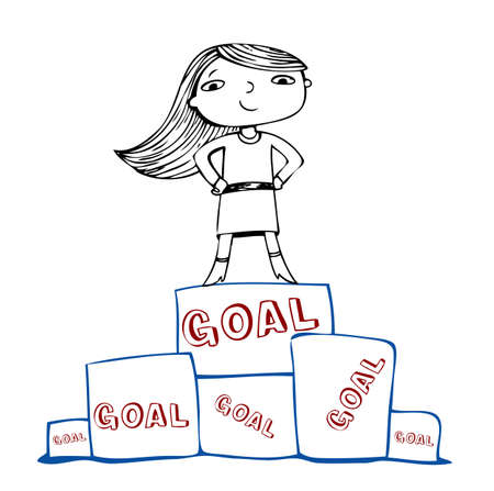 Achieve the goal, vector illustration