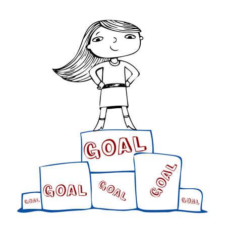 realizować: Osiągnąć cel, ilustracji wektorowych