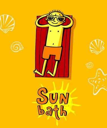 cheerfull: Cheerfull greeting card of summer vacation and summer holiday.