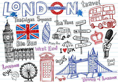 london tower bridge: London Doodles