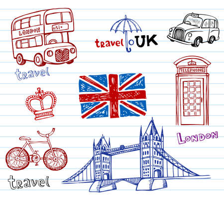 british flag: London Doodles