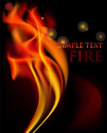 fuoco e fiamme: Vector background con belle fiamme del fuoco vettoriale. Vettoriali