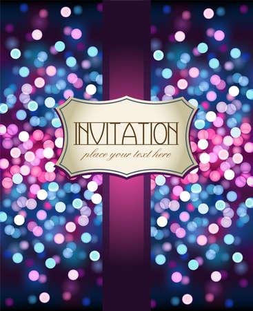 violeta: Invitaci�n violeta incre�ble sobre fondo brillante