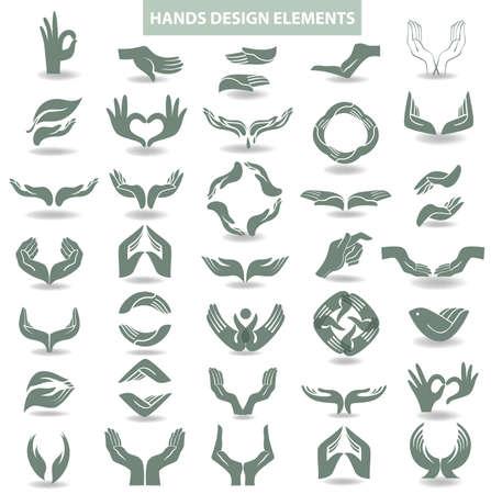 open arms: Hands design element
