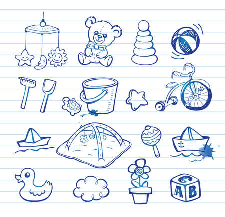 baby changing sign: Infant Icon set