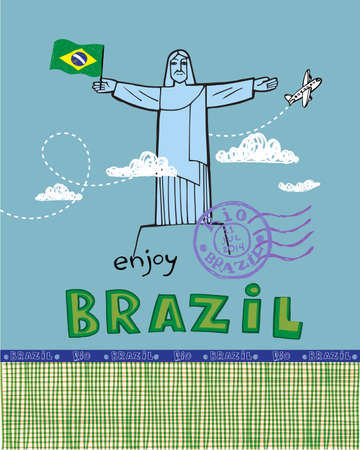 cristo: Post card with Cristo Redentor statue