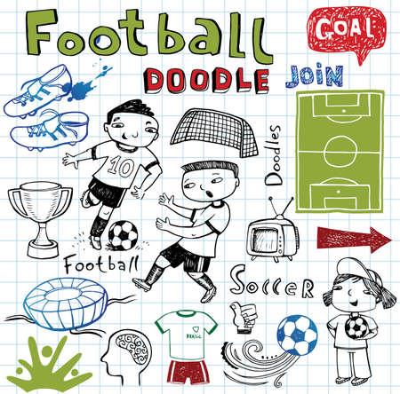 soccer fan: Soccer icon set on