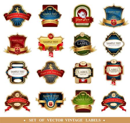 Vector frames and ornamental labels