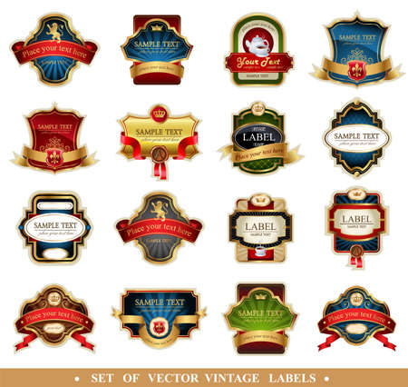 label vintage: Vector frames and ornamental labels