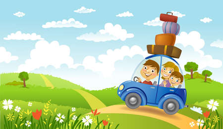 car leaf: Family summer adventure