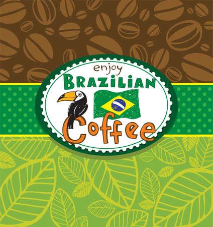 fond caf�: Fond de caf� br�silien