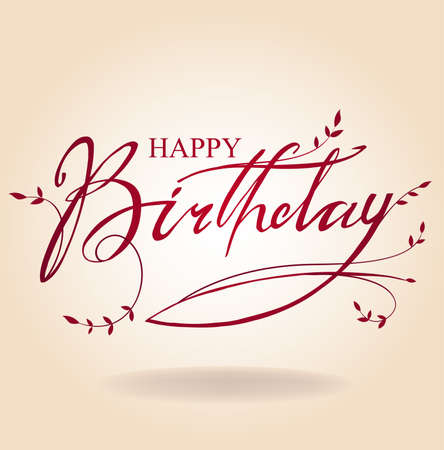 wish of happy holidays: Birthday inscription