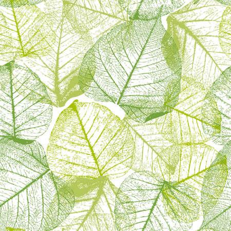 잎 원활한 플로랄 패턴입니다.