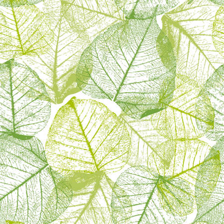 Seamless floral pattern with leaves. Illustration