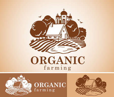 farm fresh: Organic farming design element.