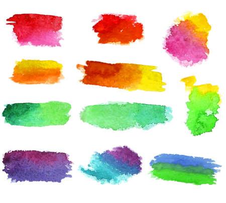 Vector watercolor aquarelle dabs