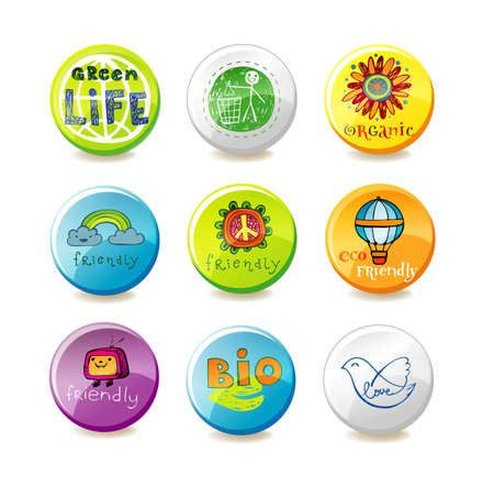 sample environment: Glass eco badges