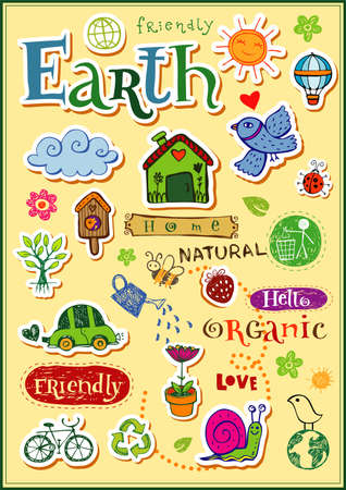 Earth elements set Vector