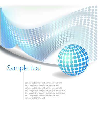 blue gradient: Dotted Abstract template background
