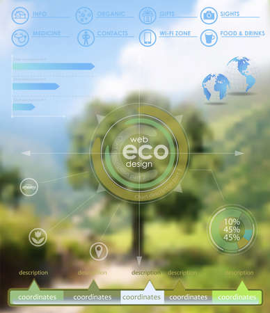 nature photography: Eco vector backgroung