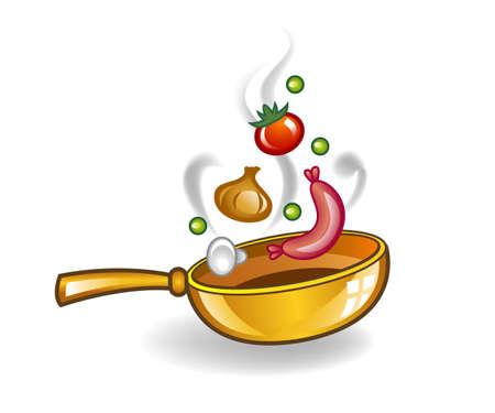ustensiles de cuisine: Poêle.