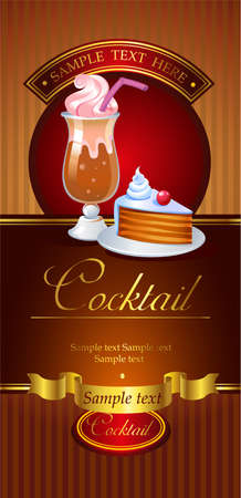 coffeecup: Cocktail vector banner