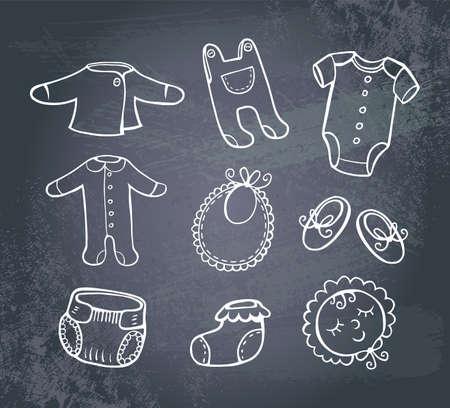 romper suit: Infant clothes Icon set