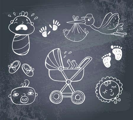 bebe a bordo: Icono de conjunto infantil