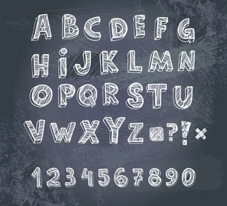 Hand drawing alphabet